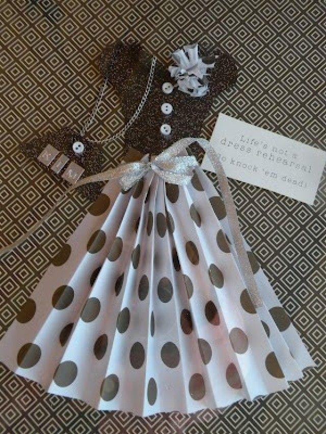Scrapbooking pretty dress
