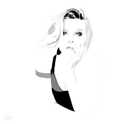 Scarlet print by Gosia Grochala, via Behance