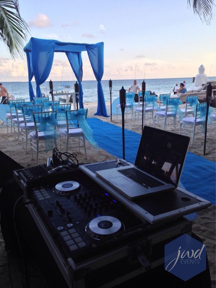 Ready @ Indigo Beach #jwdevents #destinationweddings #rivieramaya #weddingdj #seratodj #beachceremony