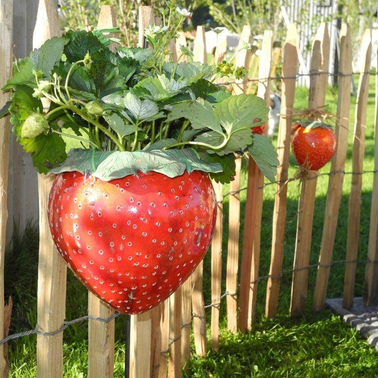 Erdbeere Keramik Blumenampel
