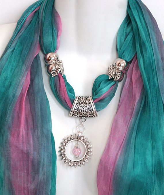 Scarf With Silver Jewelry