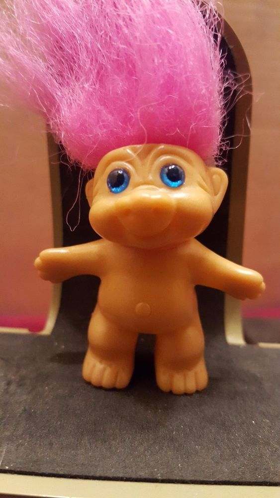 Mini Troll  2 `` - Pink Hair Pig Nose  Blue Eyes #Unbranded #Dolls