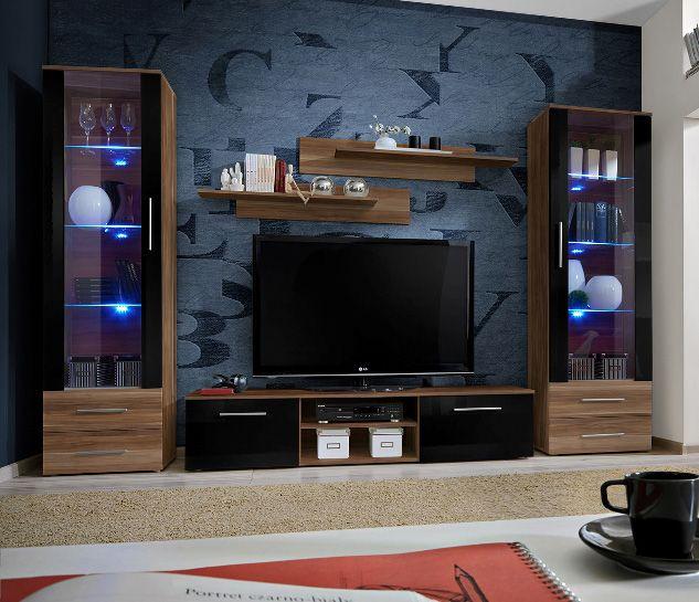 Les 25 meilleures id es de la cat gorie meuble tv moderne for Meuble mural modulable