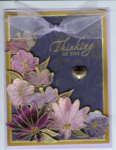 faux cloisonne using Stampin Up In Full Bloom