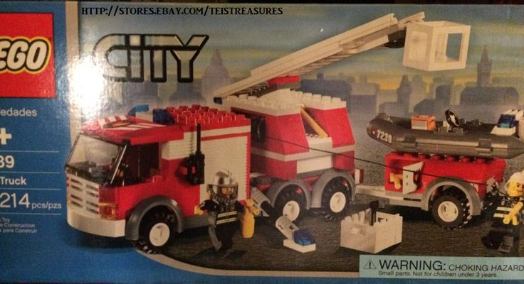 2004 City Lego Fire Truck  7239