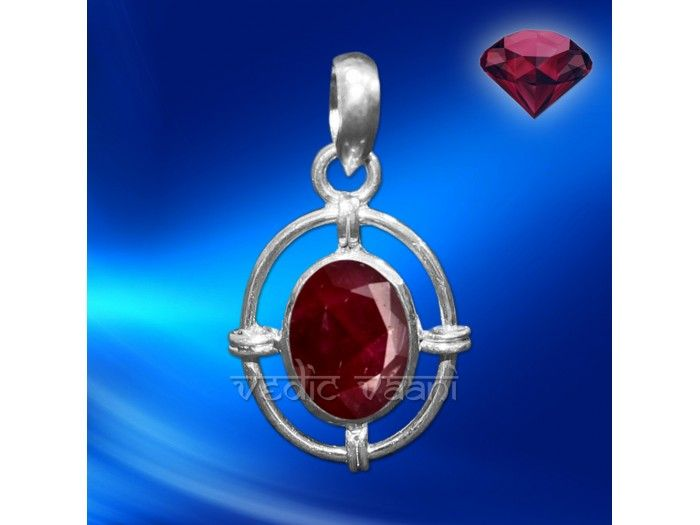 Ruby Gemstone Locket in Sterling Silver buy online from India : Ruby Gemstone Locket made in sterling silver.  Ruby gemstones represents the planet Sun, therefore people with strong Sun can wear Ruby. Ruby generates liveliness and brings spark. It takes away sadness and gloom. It safeguards a person from evil spirits, along with enhancing financial stability.  Ruby is designated as the king of gemstones due to its association with Sun. Ruby is a protective stone that offers preserved health…
