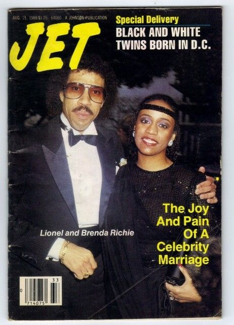 JET Magazine August 15  1988 Lionel and Brenda Richie  Black and white twins born in D C