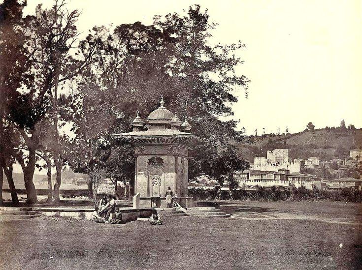 Göksu Mihrişah Sultan Çeşmesi ve Anadolu Hisarı (1850'li yıllar. Robertson& Beato) #Beykoz #istanbul