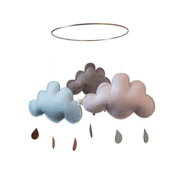 Konges Sløjd uro m. skyer, hvid m. blå og grå