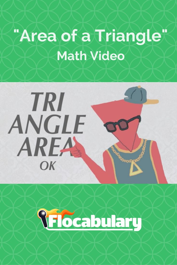 This video introduces the formula for the area of a triangle. The hook reminds students that the formula is 1⁄2 b x h. It explains how to find the base and height of a triangle in order to find the area and demonstrates why area is calculated this way, using the area of a parallelogram as a proof.