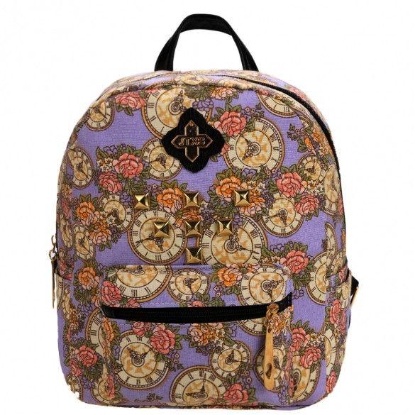 Women Ladies Girls Floral Mini Bookbag Travel Backpack