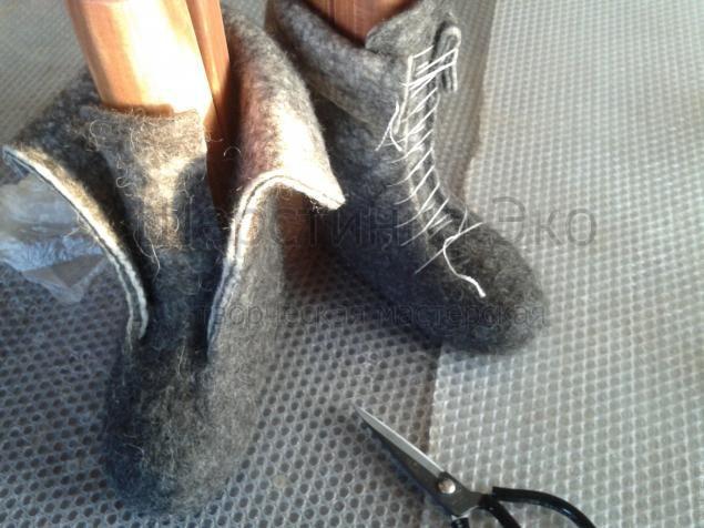"""Фото Мастер-класс """"Валяные ботинки"""" - Ярмарка Мастеров - ручная работа, handmade Tutorial"""