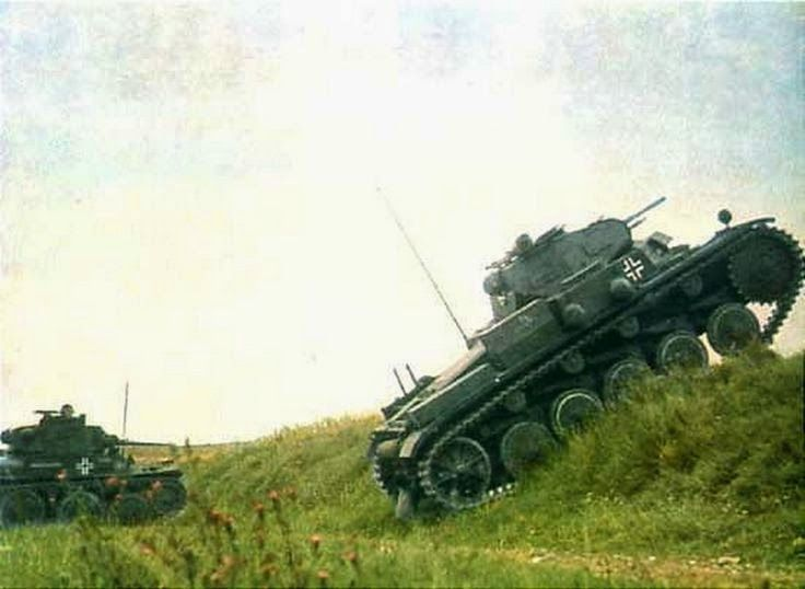 APanzer 38t and Panzer II in Poland. -