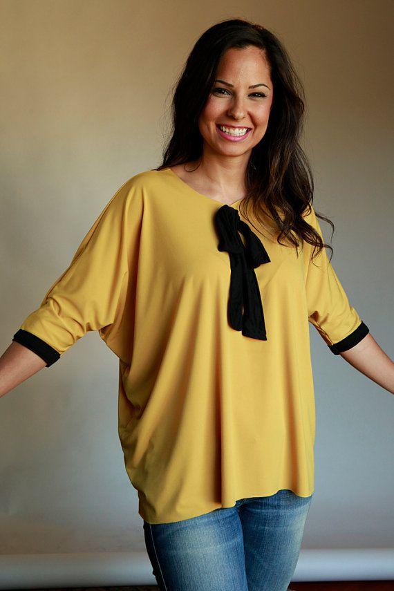 Mustard Yellow Slouchy Top by VARTANIDESIGNS on Etsy, $30.00