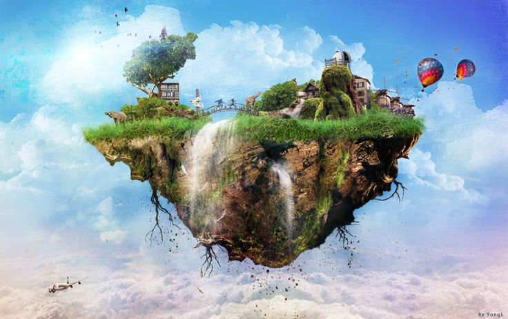 Floating island of innisfree by on