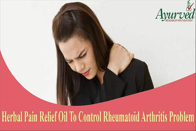 You can find more about herbal oil to control rheumatoid arthritis  http://www.ayurvedresearchfoundation.in/product/ayurvedic-oil-for-osteoarthritis/   Dear friend, in this video we are going to discuss about herbal oil to control rheumatoid arthritis. Without any doubt, rheumatoid arthritis is a type of arthritis that besides causing pain will also case overall weakness in the body.  Herbal Oil To Control Rheumatoid Arthritis