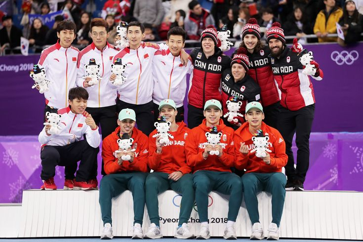 Short Track Speed Skating Men's 5000m relay. Gold - Hungary, Silver - China, Bronze - Canada