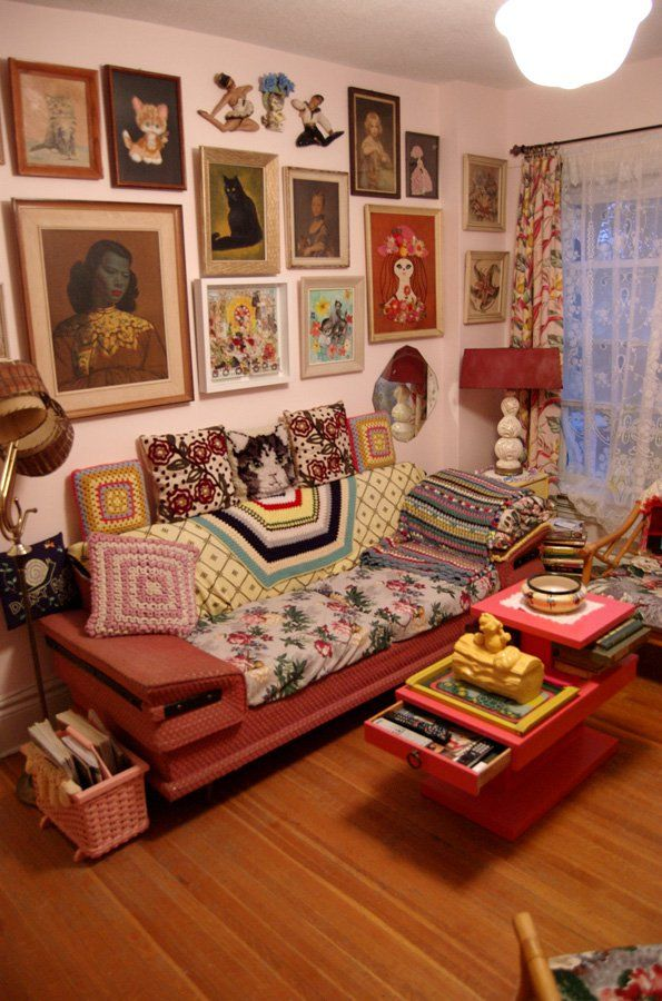 Kitschy Living Room.