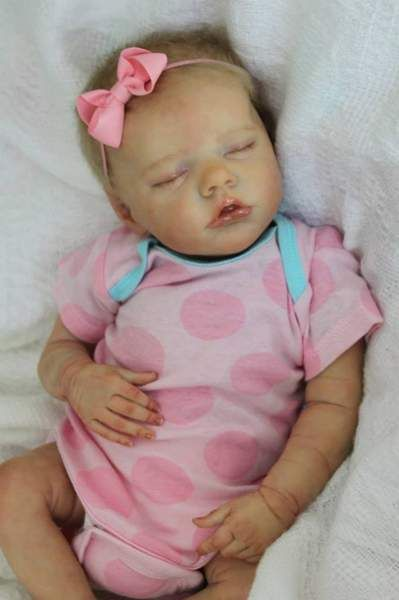 """*CUSTOM* Twin B Reborn Doll Newborn size By Summerfield Babies - This listing is for a CUSTOM Reborn DollCreated from the """"Twin B"""" sculpt by Bonnie Brown.The reborn doll will be approximately 17"""" long (with bent legs), and is a small newborn size. He/She will wear newborn size baby clothing.""""Twin B"""" has 3..."""