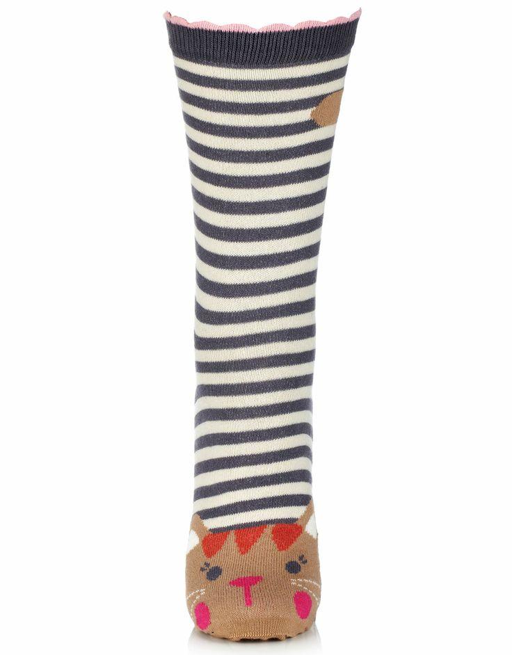 Kitty Cat Face Socks   Multi   Accessorize 5,50e