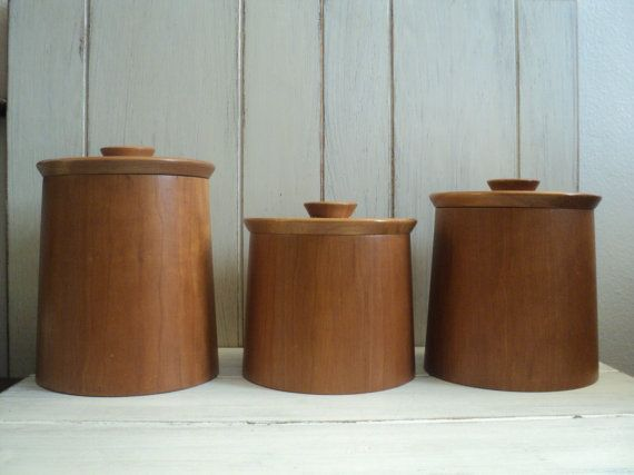 Perfect Teak Canisters. Kitchen Canisters And JarsModern ...