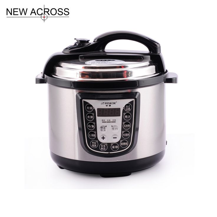 Gohide 1 set Electric Pressure Cooker Stainless Steel 5L Micro Computer Smart Voltage Pot Pressure Cookers Cookware