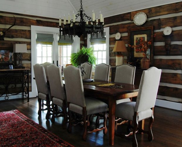 30 Best Images About Beautiful Log Cabin Dining Rooms On Pinterest Credit Score