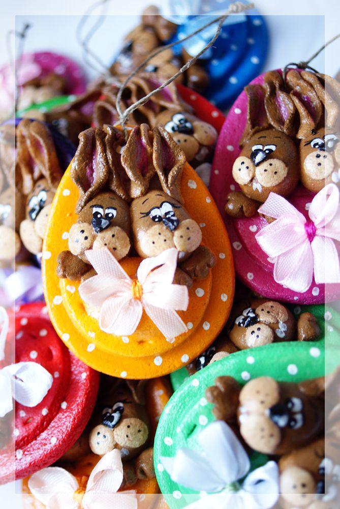 Salt Dough Easter Bunny Eggs
