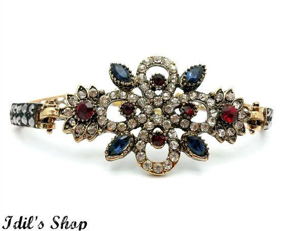Turkish Ottoman Style Bronze Bracelet Friendship Bracelet by IdilsShop
