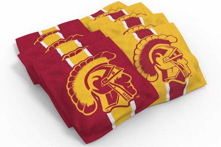 Upgrade USC Trojans Stripe Bean Bags-8pk