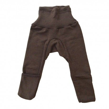 Baby pants, wool/silk, brown, Cosilana