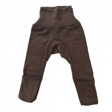 Baby pants, wool/silk, brown, Cosilana