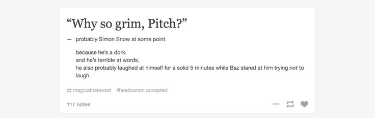 Simon Snow and Baz puns. Hehehe