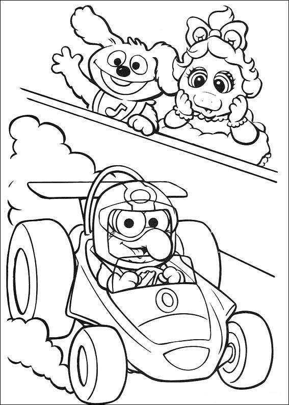muppets 19 ausmalbilder für kinder. malvorlagen zum