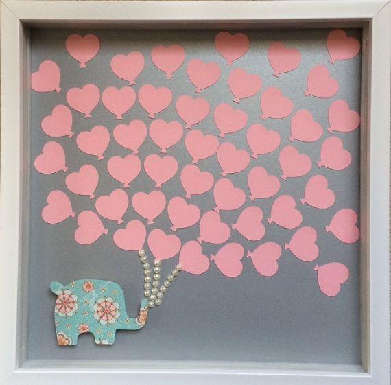 Baby Shower Guest Book Alternative  Baby elephant & by ItsyBitsyCA