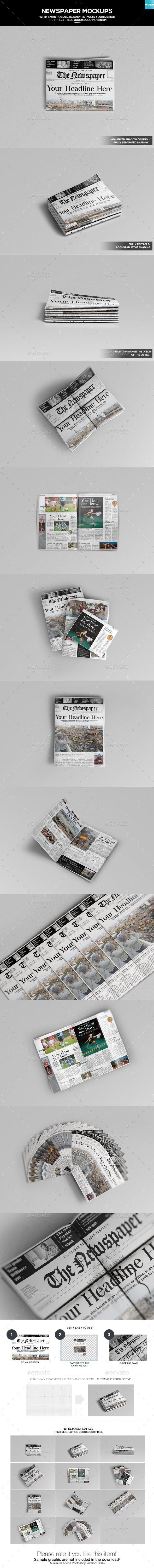 Download Newspaper Mockups 01