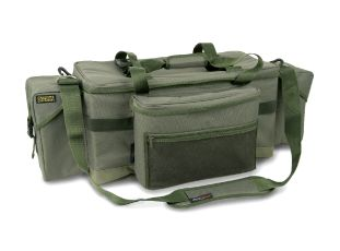 Shimano Tribal Deluxe Carryall only £34.99  #Shimano #WarringtonAnglingCentre  A large sized Organised Compact Design Carryall that enables the user to fit special use accessory cases internally to suit their fishing. Front pocket fits large sized tackle boxes while the lid can fit other Organised Compact Design accessories.  * 600D polyester * AeroQuiver strap included * Organised Compact Design * Table top rigid design * Heavy duty base