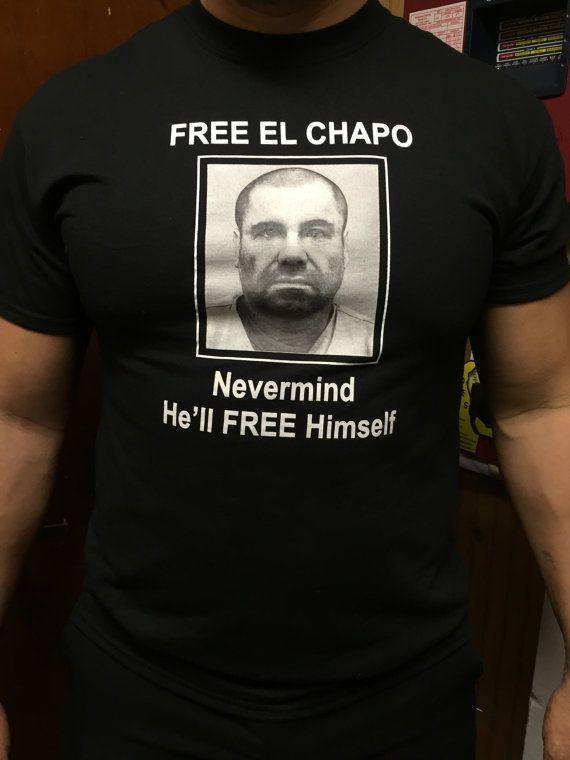Free El Chapo Tshirt by AZTECAINC on Etsy