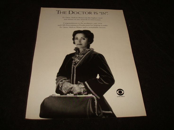 Dr. Quinn Medicine Woman 1994 Emmy ad with Jane Seymour 'The Doctor Is In'