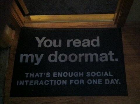 That's enough #Social #Interaction