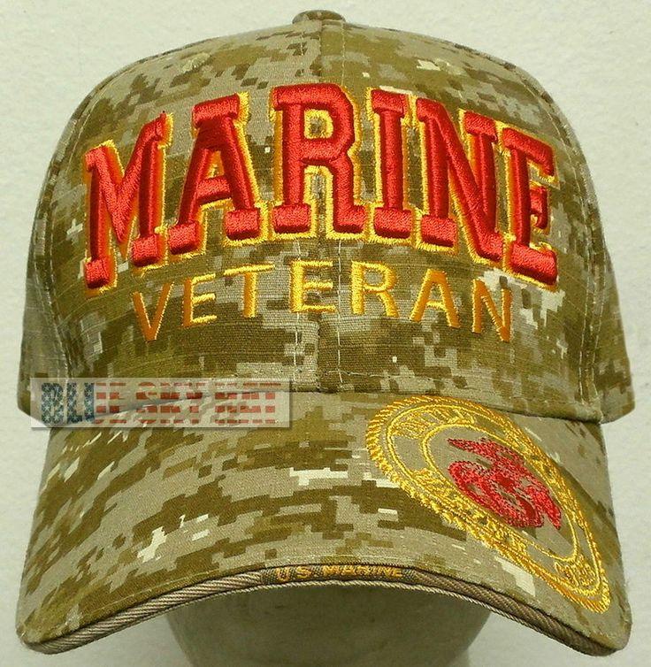 RIPSTOP CAMO MARPAT DESERT U.S. MARINE CORPS USMC EGA EAGLE GLOBE ANCHOR CAP HAT #PREMIUMHATS #BaseballCap