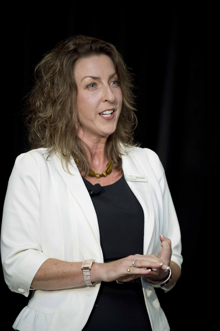 Meredith Collins speaking at the CBA Small Business Banking Forum in May, 2012