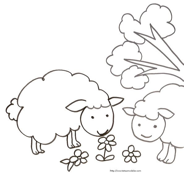 17 best images about coloriages mouton on pinterest coloring pages animaux and google https - Dessin mouton ...