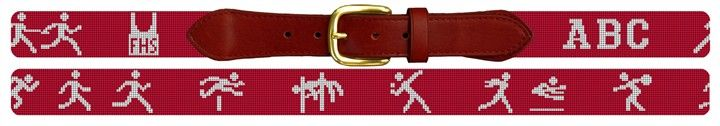 Track and Field Needlepoint Belt | #Needlepoint