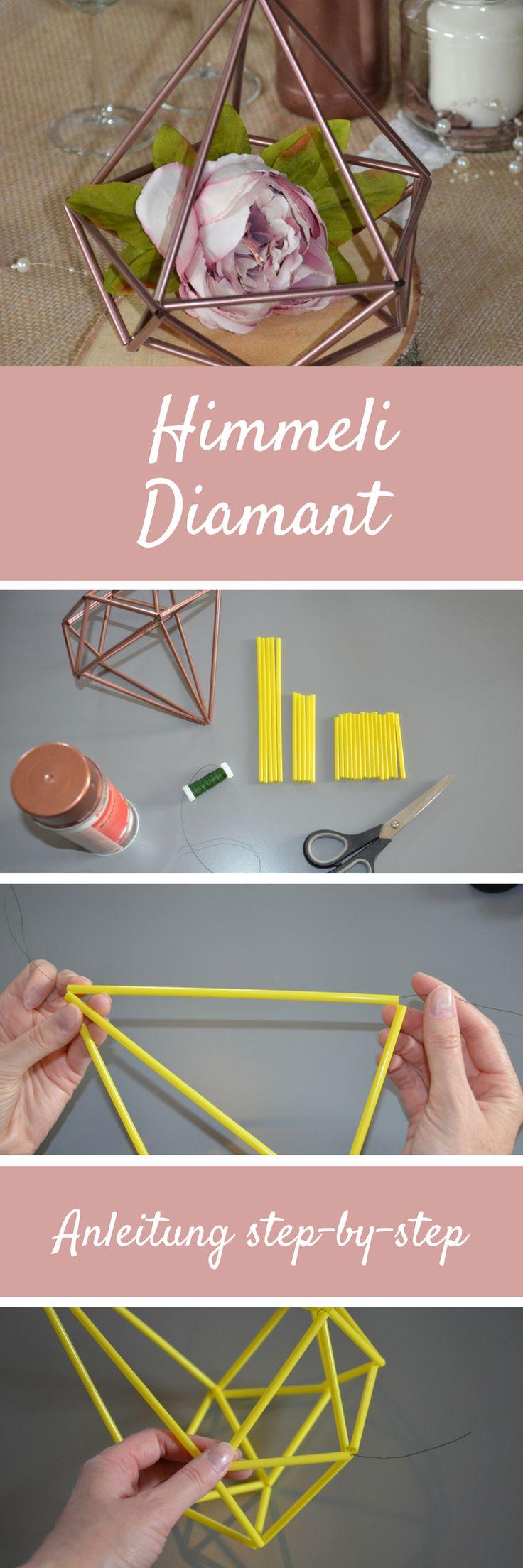Himmeli in Diamantenform DIY