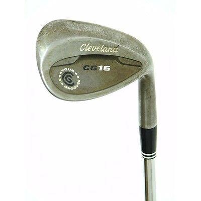 Cleveland Golf Clubs Cg16 Raw 58 Lob Wedge Stiff Steel Very Good