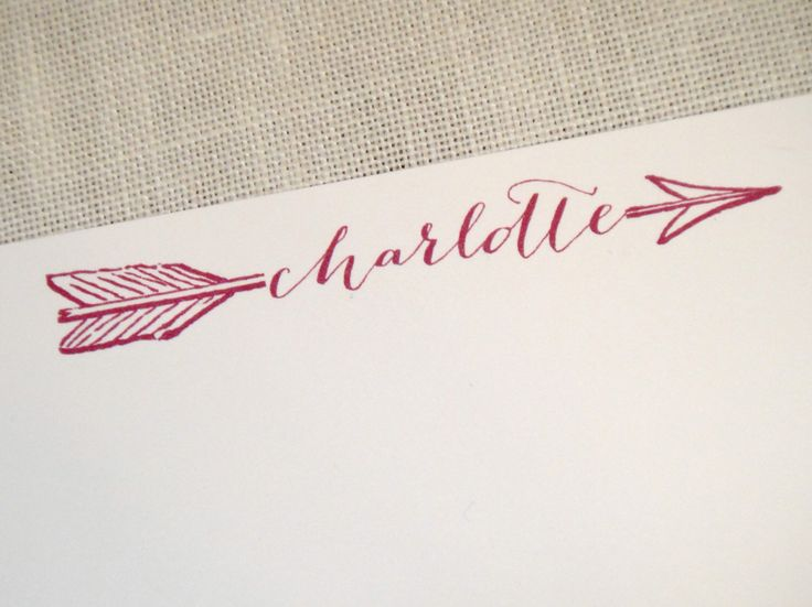 Personalized Stationery Custom Stationary- Arrow Through Name by LivvyPress on Etsy https://www.etsy.com/listing/206865191/personalized-stationery-custom