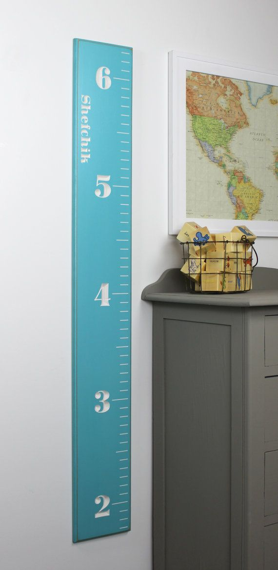 Fully Carved Wooden Growth Chart Ruler For Children With