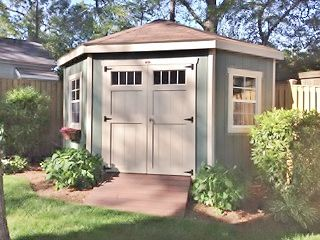 corner shed love this idea for saving space in a small yard