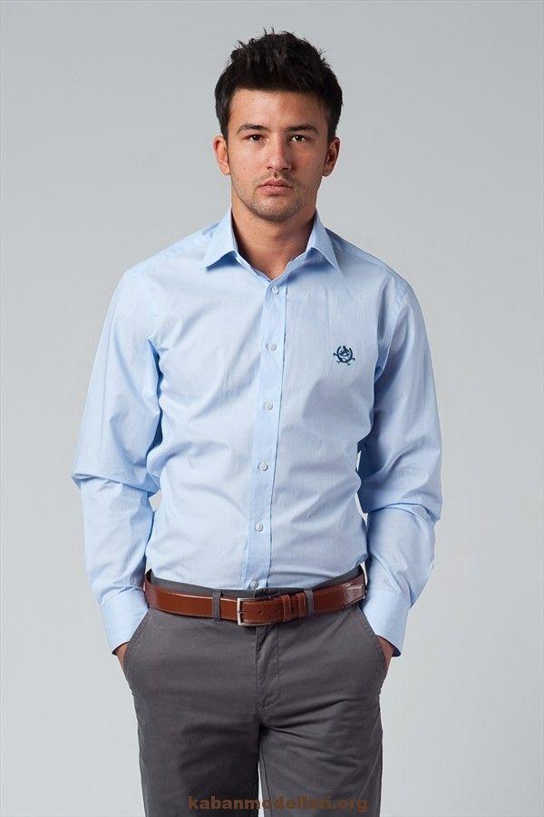 mavı Yeni Sezon Erkek Gömlek Modelleri